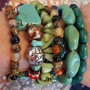 Jewelry - Seven stretchy stackable bracelets